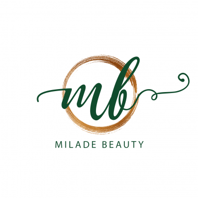 Milade Beauty logo and branding